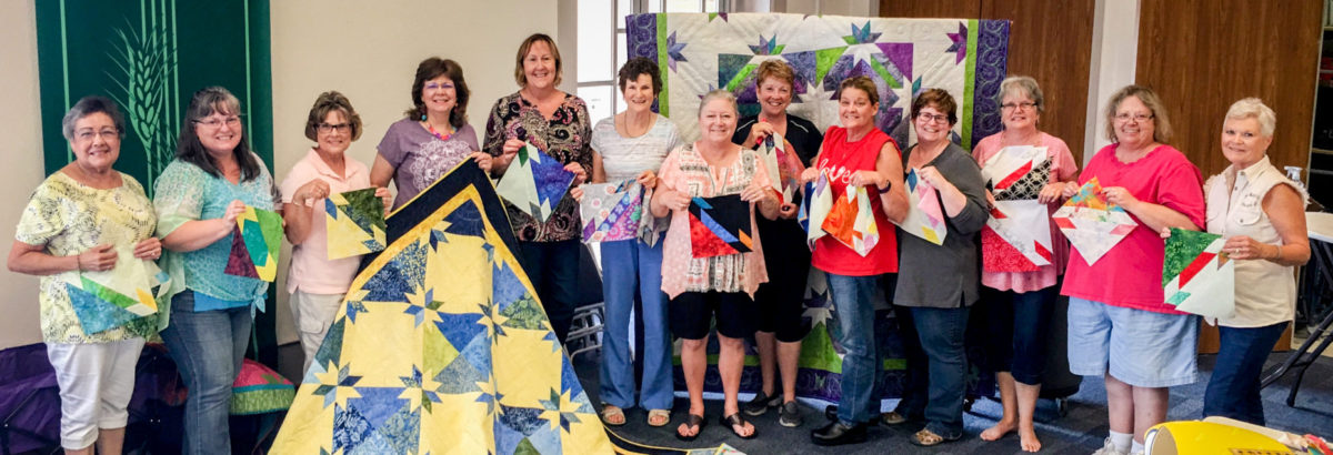 photo of quilting workshop with Karen Overton